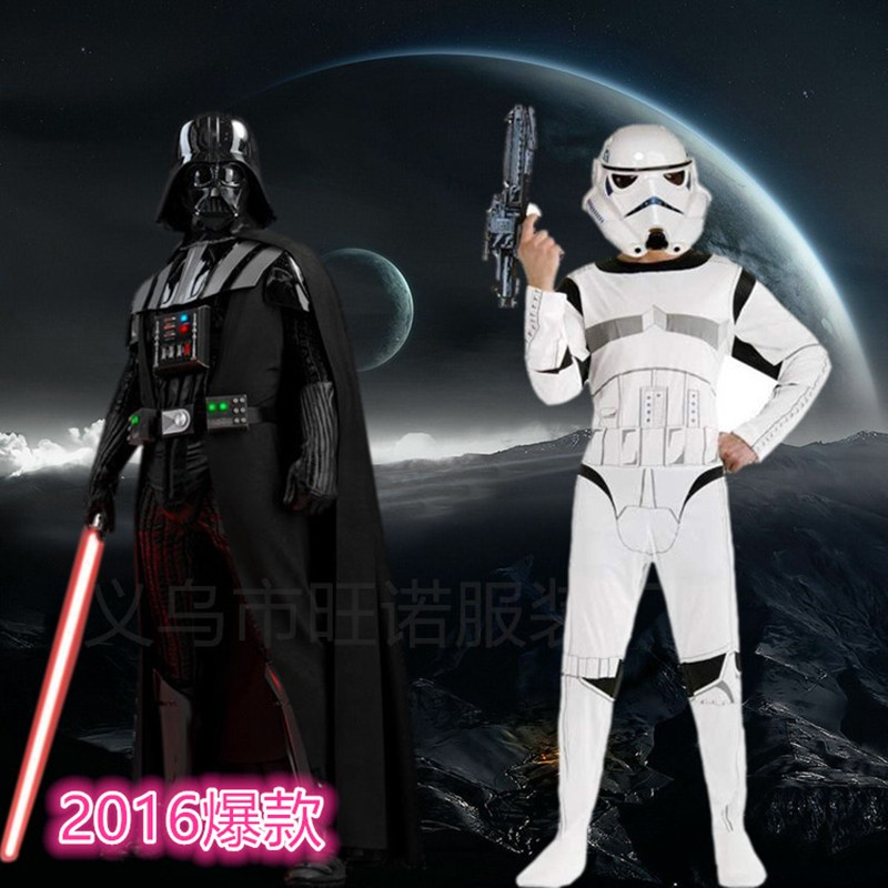 Star Wars Darth Vader Costume For Boys Star Wars Cosplay Halloween Carnival Costumes For Kids Fancy Party Dress