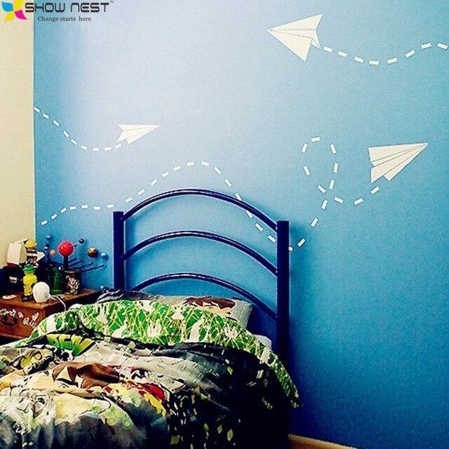 Arti grafiche Aeroplano di Carta Adesivi Da Parete Per Bambini ...