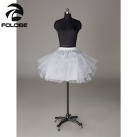 2014 Free Shipping Top Quality  Stock Three Layer Net  White A-Line Flower Girl Dress  Petticoat / Child Crinolines/Underskirt
