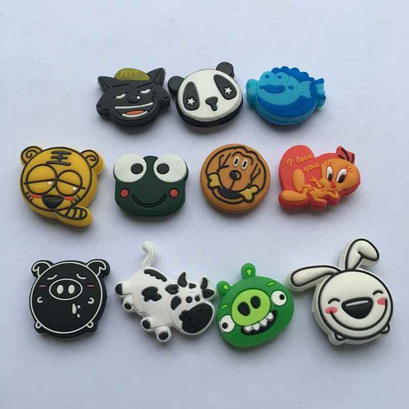 5pcs Cartoon Animals Tennis vibration dampener,Tennis racket Dampener,tennis racket shock absorber