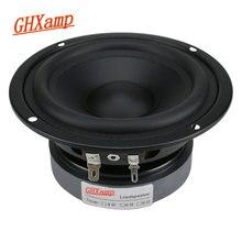 GHXAMP 4.5 Cal Hifi średni głośnik basowy 80W 115mm średni głośnik niskotonowy głośnik na półkę samochodowy sprzęt Audio gumowa krawędź 1PC