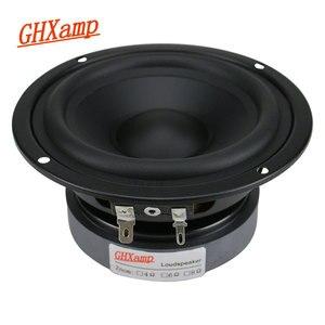 Image 1 - GHXAMP 4,5 дюймовый Hi Fi динамик средних басов 80 Вт 115 мм, динамик средних частот для книжной полки, автомобильный аудио резиновый край, 1 шт.