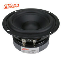 GHXAMP 4.5 אינץ Hifi אמצע בס רמקול 80W 115mm בינוני וופר רמקול עבור מדף ספרים אודיו לרכב גומי קצה 1PC