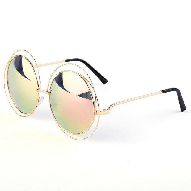Rétro Vintage lunettes de Soleil Rondes Hommes Steampunk Lunettes De Mode  2017 Brand Design Lunettes de f282a9cd05ed