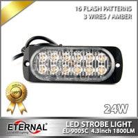 Free Shipping 24W LED Flashing Safety Light High Power Warning Light Emergency Edge Marker Lamp For