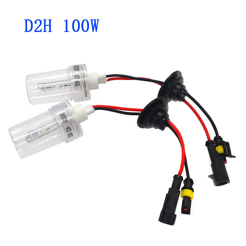 High Power 100W HID Bulb 12V 24V 100W Ceramics H1 H3 H7 H11 9005 9006 D2H HID Bulb 4300K 6000K For Car Headlight 100W HID Kit