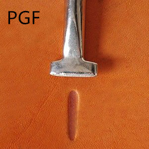 Thumb type vertical grain 1 PGF92-01 stainless steel fine printing tool leather carving tool