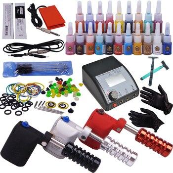 rotary tattoo machine set complete tattoo kits cosmetic makeup permanent gun kit for starter