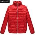 Tangnest sólidos magro casacos de inverno curto 2017 mulher moda breve estilo acolchoado parka wwm1459 jacktets marca plus size ocasional básico