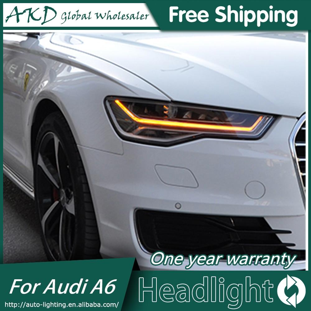 Akd Car Styling For Audi A6 Headlight 2017 Led Angel Eye