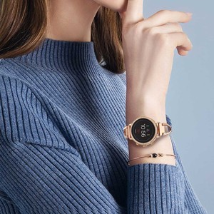 Image 5 - Stainless Steel + Diamond Watchband 18mm for Fossil Womens Gen 4 Venture HR / Gen 3 Q Venture Watch Band Rose Gold Strap Belt