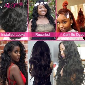 Image 2 - Brazilian Body Wave Human Hair 4 Bundles With Closure Brazilian Hair Extensions Non Remy Lace Closure With Weave Bundles 5 PCS
