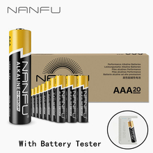 NANFU 20 Pcs/Set AAA Alkaline Battery with Tester Ultra Power LR03 1.5V for Clocks Remote Controller Toys Electronic Device