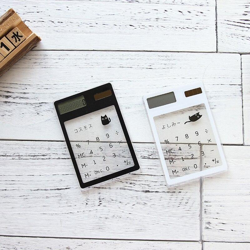 1 Piece Handheld Transparent Scientific Calculator Cute Pocket Calculator Solar Calculators Scientific for School Meeting