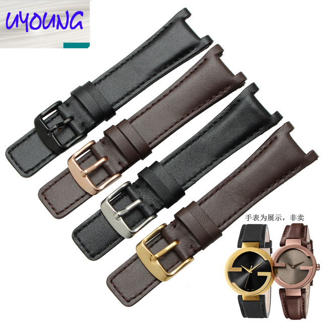 f37b6dbdc1c UYOUNG 2019 New genuine Leather watchband substitute YA133205 YA133206 series  watch with 20mm x 12MM Black Brown strap for men
