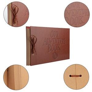 Image 5 - Винтажный альбом из крафт бумаги, 80 страниц, набор карт, альбом с надписью «My Adventure» и инструментом «сделай сам», фотоальбом для скрапбукинга