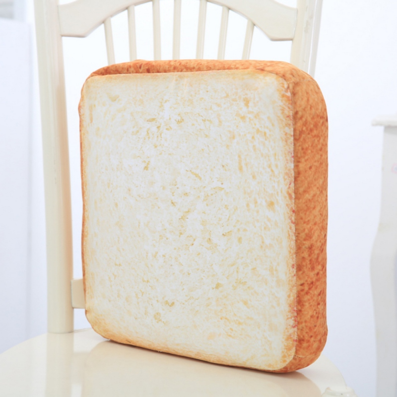 Toast Bread Slices Shaped Mats Plush Pillow Pet Cats Bread