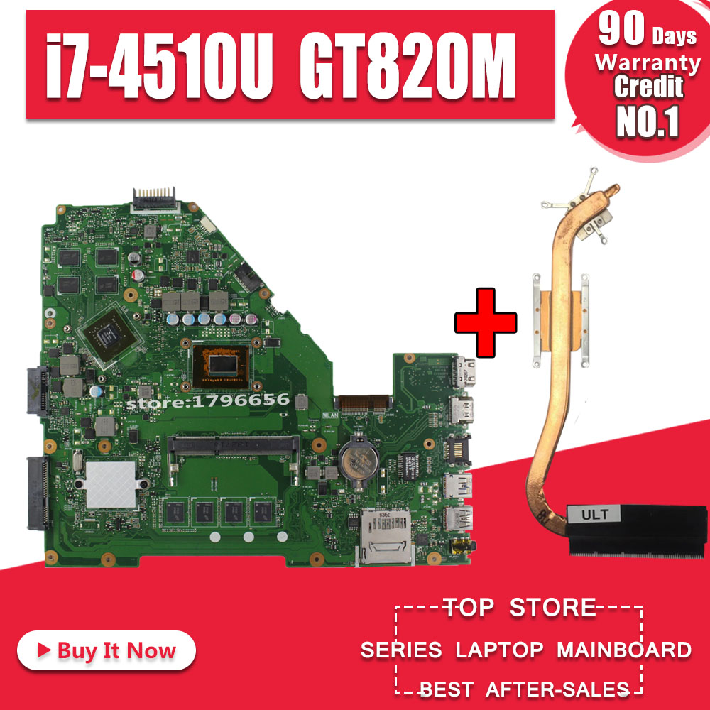 GT820M I7-4510U 4GB RAM X550CC Motherboard REV2.0 For ASUS X552C X550CC X550CL Y581C Notebook Motherboard X550CC Motherboard