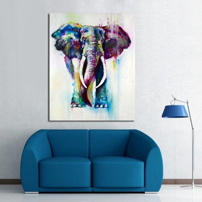 Handgemalte Farbe Tiere Ölgemälde Hängen Gemälde Moderne Elephant ...