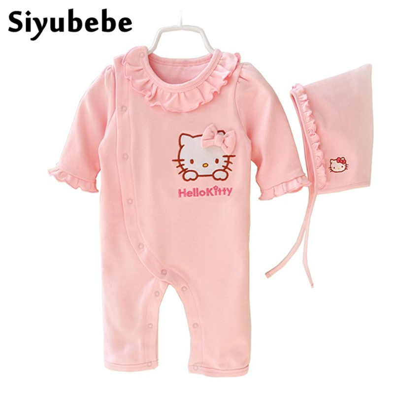 Baby Clothes Set 2017 Infant Romper Baby Girls Jumpsuit Newborn Ropa Bebe Clothing With Hat Toddler Cute New Baby Costumes 2016 infant romper baby boys girls jumpsuit new born bebe clothing baby clothes cute ladybug romper baby orangutan costumes