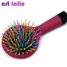 3 Colors Comb Magic Hair Brush Hair Salon Comb Rainbow Hairbrush Fashion Comb Anti-tangle Brush Massage