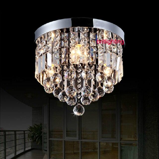 moderne kristall decken lampe schlafzimmer runde oberflche montiert led decke licht abgehngte decke led beleuchtung kristall