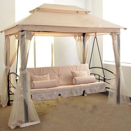 Suofei Luxus Outdoor Schaukel Bett Zelt Pavillon Garten Doppel