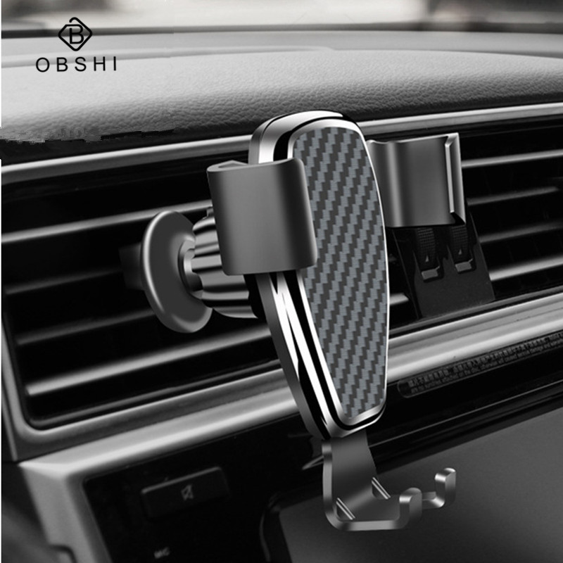 Universal Gravity Car Phone Holder For Phone In Car Air Vent Mount Stand No Magnetic Mobile Phone Bracket Smartphone Accessories