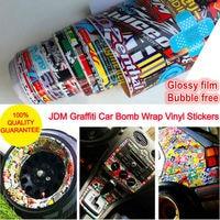 Brillant Film Vinyle Autocollant sur la Voiture JDM Graffiti Autocollant De Voiture Bombe Wrap Autocollants Moto Accessoires plein de voiture stickers Car Styling