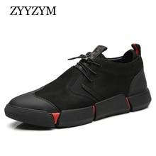 ZYYZYM أحذية الرجال السود ربيع الخريف الرجال حذاء كاجوال جلد تنفس موضة البريطانية حذاء رجالي Zapatos دي Hombre