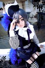 купить New Black Butler Kuroshitsuji Ciel Phantomhive Circus Cosplay Blue Uniform Halloween Costumes for Women/Men S-XL/Custom Any Size по цене 4040.74 рублей