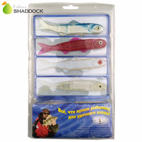 110pcs Set Lifelike Soft Minnow Lures Set Luminous Artificial Swimbait With Weedless Hooks Weedguard Barbell Eyes