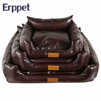 ERPPET High Quality Leather Sturdy And Durable Pet Dog Bed Soft Comfortable Medium & Large Dog Kennel With Deachable Dog Bed