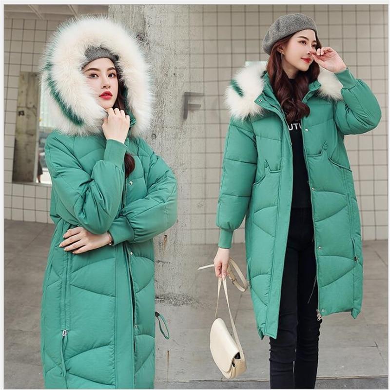 2019 Hot Winter Coat women Hooded Fashion Oversize Thicken jacket Women Long Windbreaker jacket Women   parkas   Outerwear R215