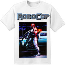 ROBOCOP RETRO US Huge Movie Poster T SHIRT PRINT CULT CLASSIC OCP ED209 Detroit Harajuku  Fashion Classic Unique free shipping