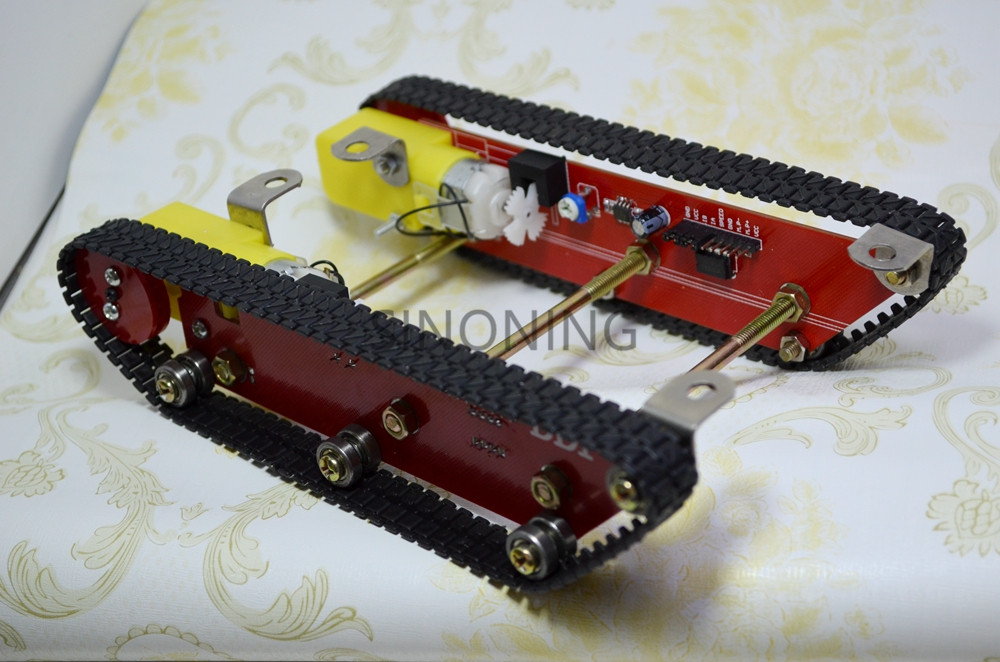 Smart Robot Tank Car Chasis kits caterpillar Crawler chassis track Integrated 2 motor dd1 1 for