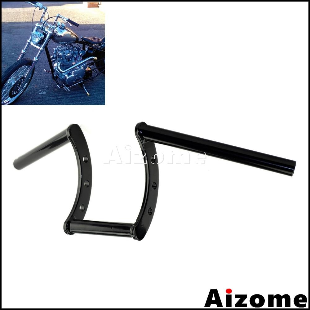 """Black Custom 1/"""" Z-Bars Ape Hangers Handlebars Fits Harley Chopper Bobber Xl BSA"""