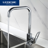 LEDEME Kitchen Faucet Deck Mounted Hot and Cold Water Universal Rotatable Vegetable Sink Mixer Tap Kitchen Faucets L4067