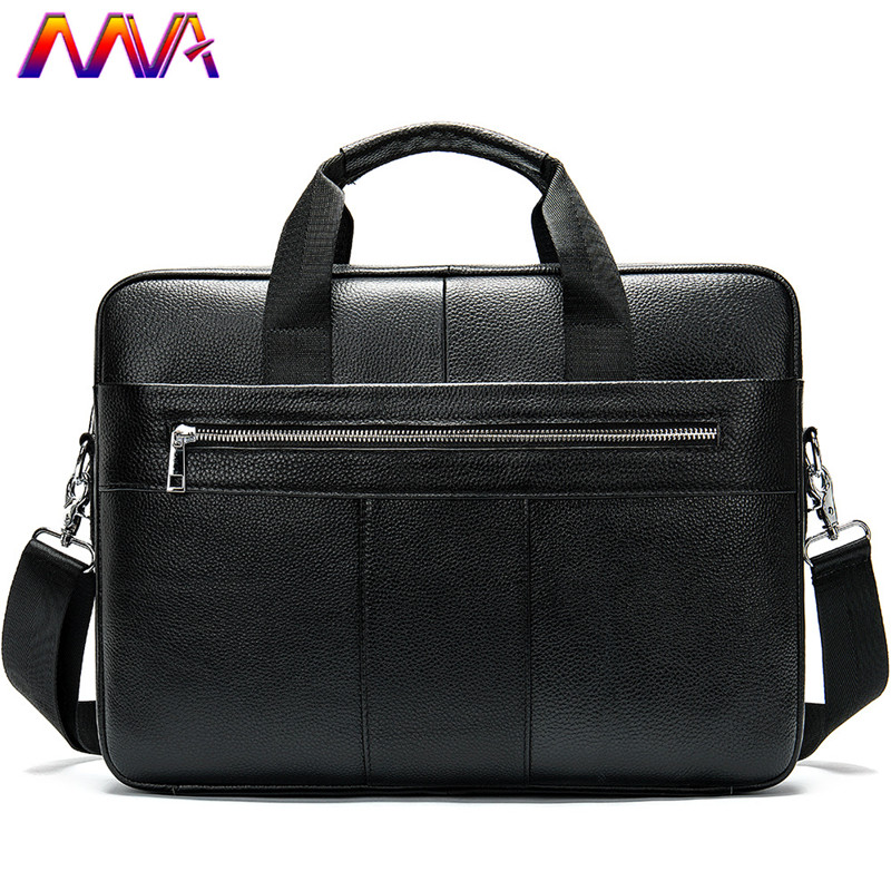 MVA Genuine Leather Men`s Briefcase Newly Arrival 14 Inch Notebook Computer Vintage Handbag Fashion Casual Men`s Shoulder Bag