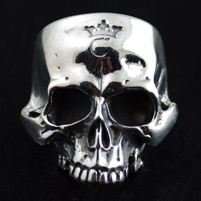 925 pure silver gabor skull ring
