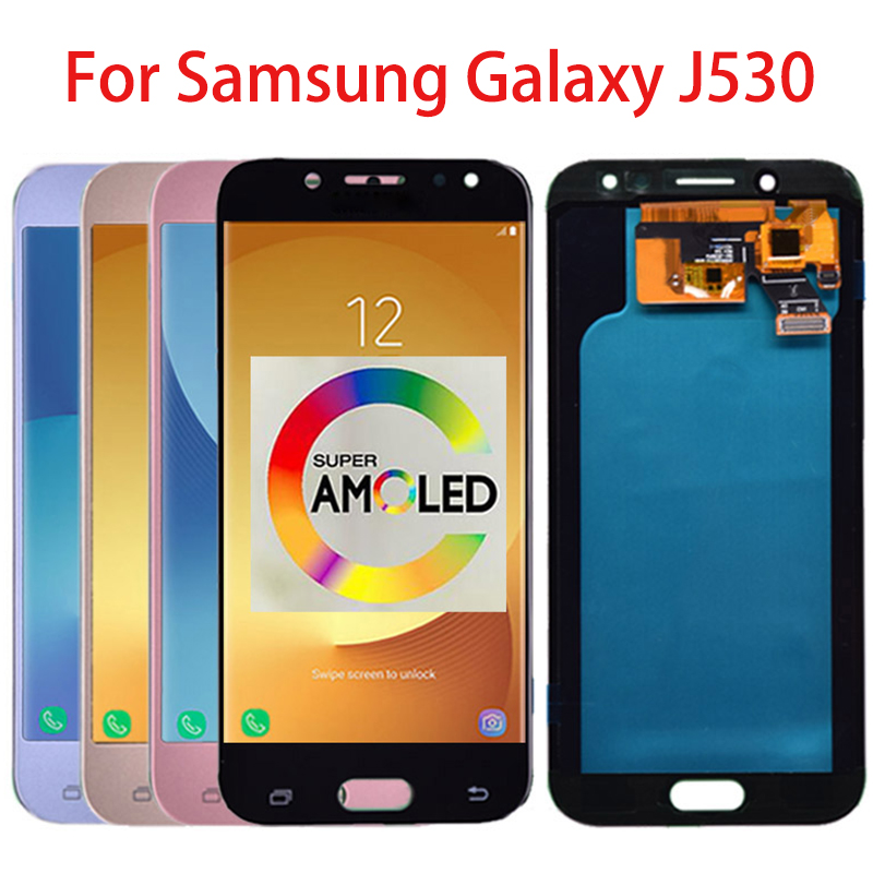 Super Amoled LCD For Samsung Galaxy J5 2017 J530 J530F LCD Display Touch Screen Digitizer Assembly Replacement for J5 Pro 2017