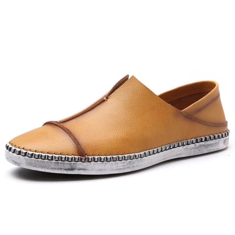 Doux Hommes Cuir yellow Glissement Chaussures Casual En Mocassins Les brown Belle Black Sur TWCSRqdT
