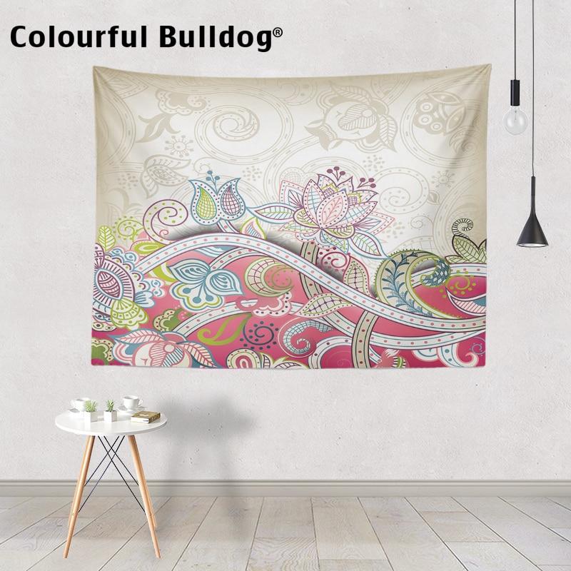 Skull Flowers Indian Tapestry Beach Towel Wall Hanging Bohemian Hippie Bedspread
