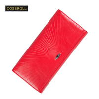 Fashion Genuine Leather Women Wallets Bifold Wallet ID Card Holder Coin Purse Pockets Clutch With Zipper