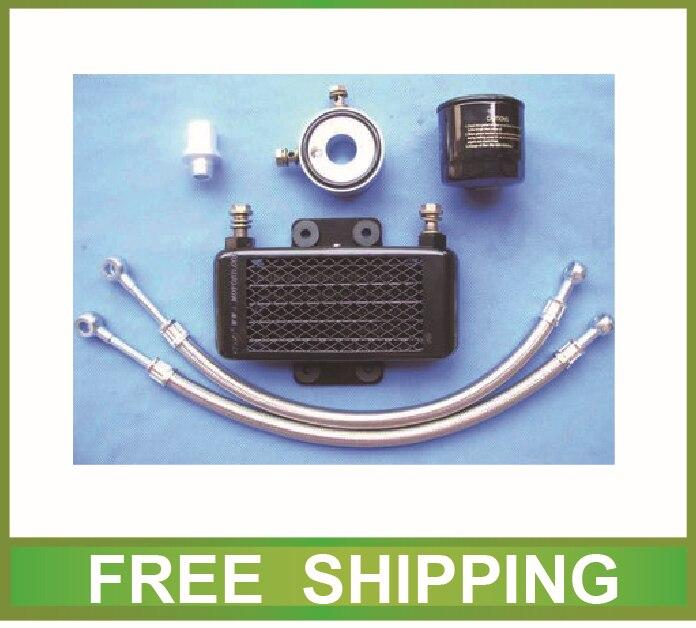 цена aluminium radiator oil cooler alloy GW250 GSR250 250cc motorcycle accessories