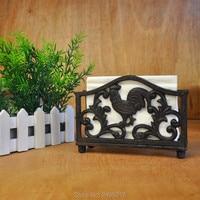 New wrought iron napkin holder tissue box Tissue paper holder tissue rack wedding party supplies free shipping