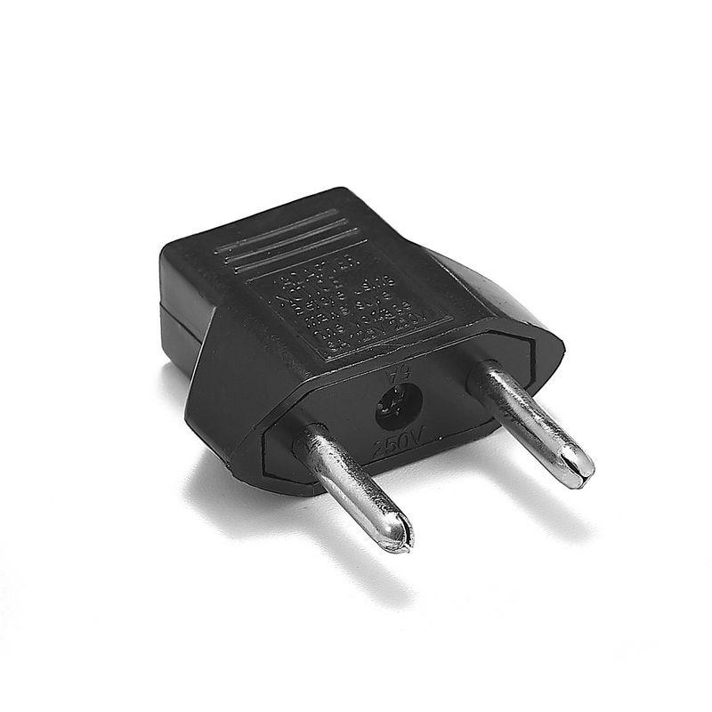 500pcs Japan US To EU European German Power Adapter Germany EU Travel Adapter AC Charger Converter Electrical Plug Outlet Socket