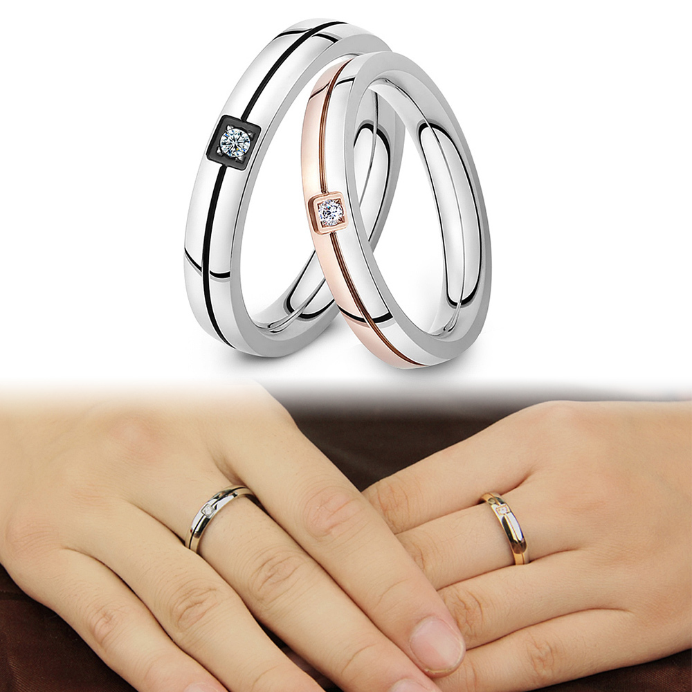 simple cheap lovers crystal wedding stainless steel item fashion in classical stone price rings design opk bands from jewelry finger