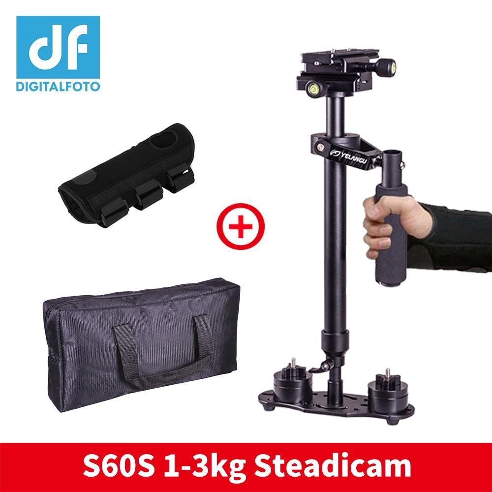 Steadicam S60 cámara de mano estabilizador de vídeo Steadicam DSLR Steadicam estabilizador cámaras con mano brace para Canon Nikon