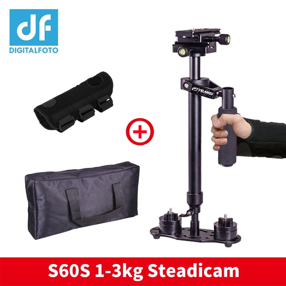 Steadicam S60 portatile della macchina fotografica stabilizzatore video costante cam DSLR steadycam estabilizador telecamere con la mano brace per Canon Nikon